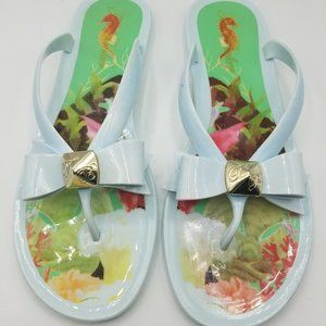 Ted Baker Seahorse Jelly Flip Flops size 8